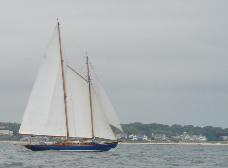 Schooner MYA under sail