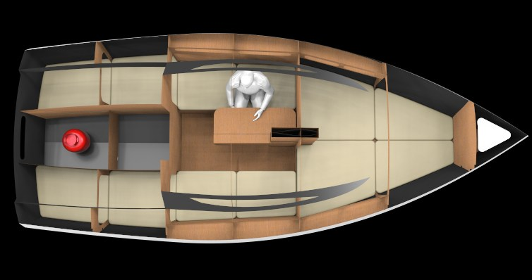Top view of 600 Lion Yacht.