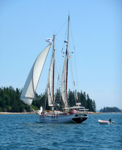 Sailing in Eggemoggin Reach, Maine, July 2015
