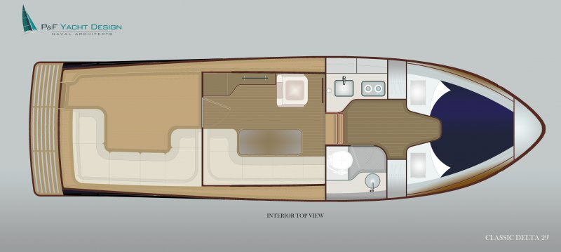 Classic Delta interior layout