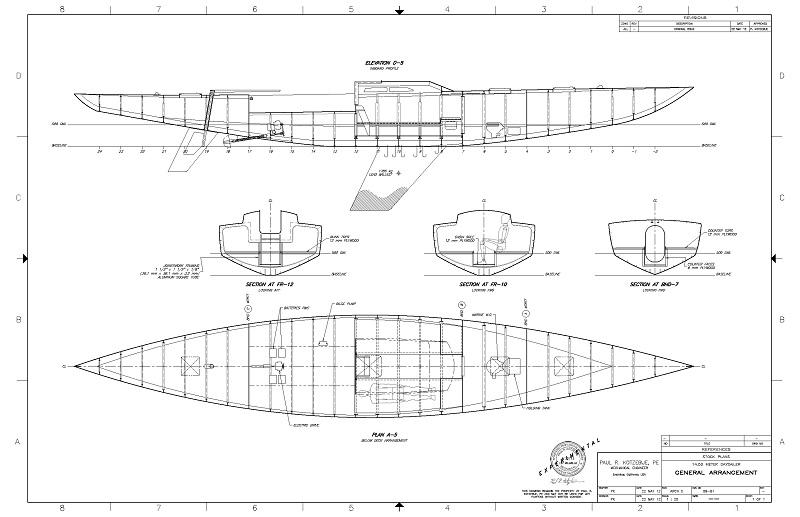 K-48 Daysailer Cabin Plan