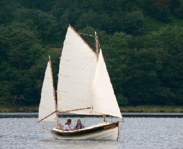"Pathfinder ""Idle Fiddler"" on a lake in North Wales"