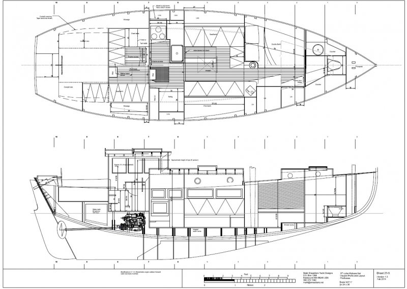 Kahuna nui woodenboat magazine for Motor sailer boat plans