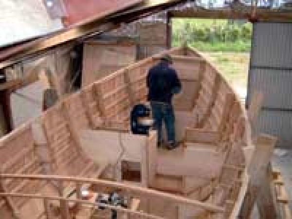 Inside the bare hull