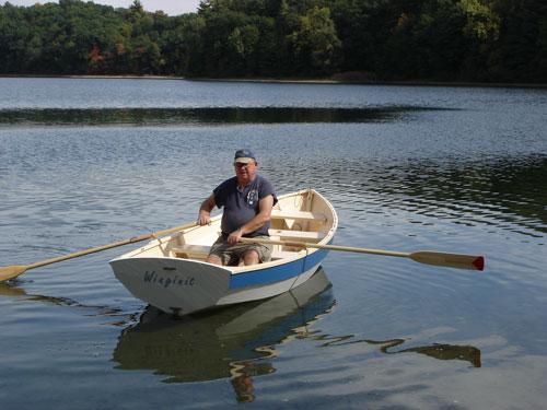 Pooduck Skiff rowing