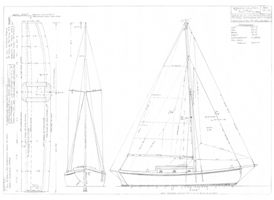 Sail plan (Bermudan)