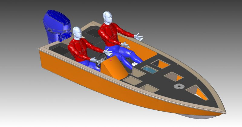 4.5m bass boat front view