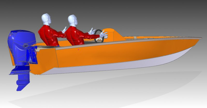 4.5m bass boat rear view