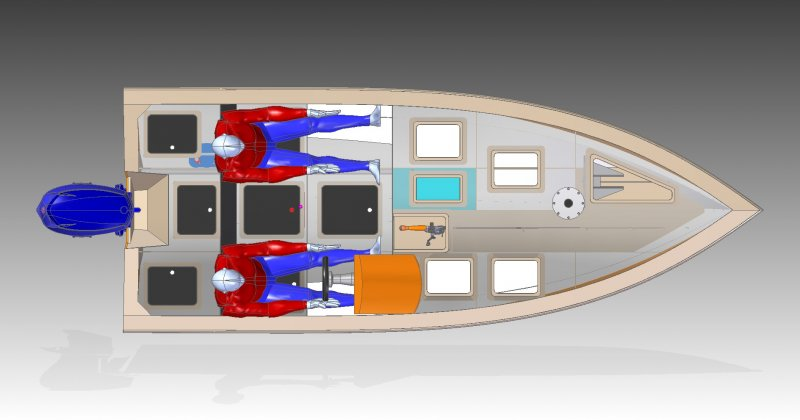 4.5m bass boat top view