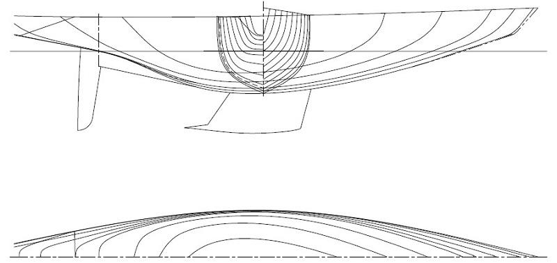 6 Meter Racing Yacht Hull Lines