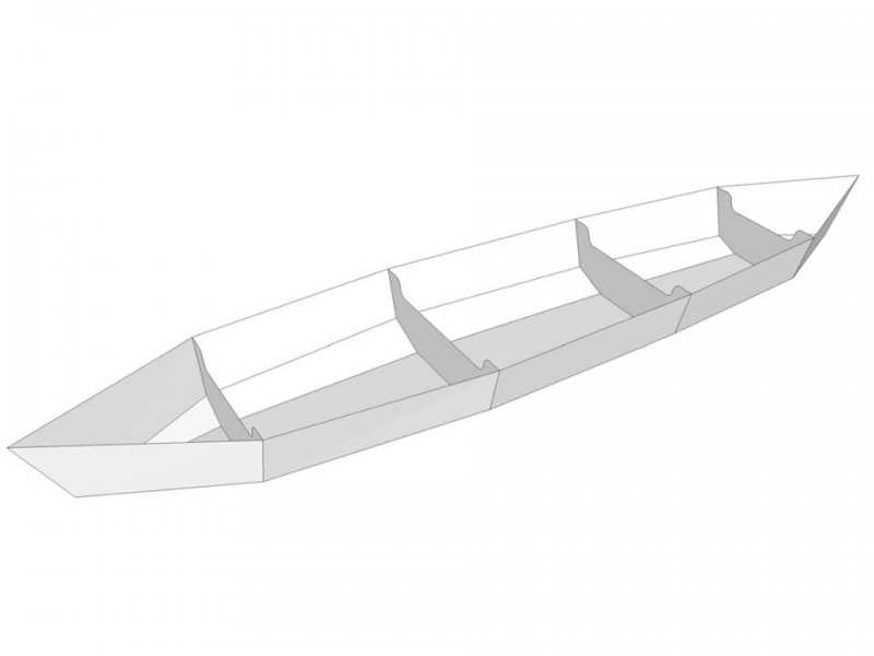 Sectional canoe