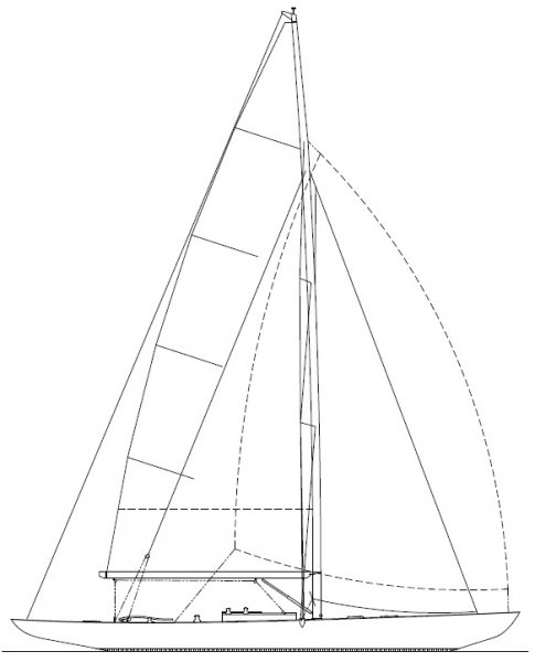 K-8m 48 ft sailing yacht