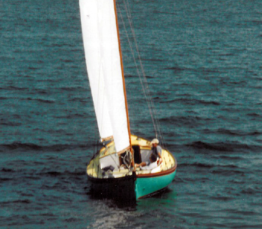 26 foot Auxiliary Ketch stern view