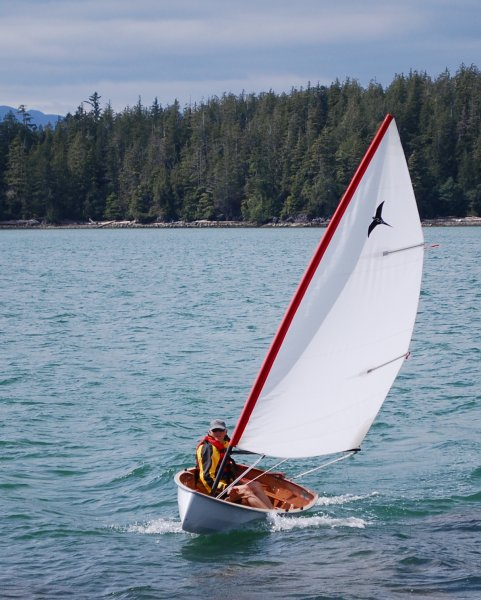 The PT 11 nesting dinghy, from Port Townsend Watercraft,  rows and sails very well
