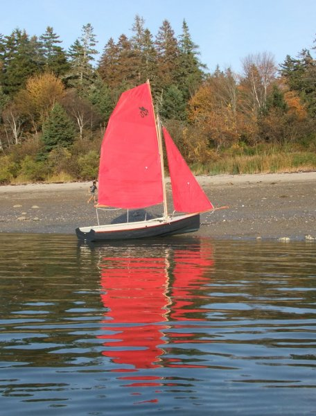 Brooks Boats Designs DragonFlyer 3.2 on beach