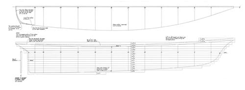 Half Model Plan AMERICA 1/2 Scale profile
