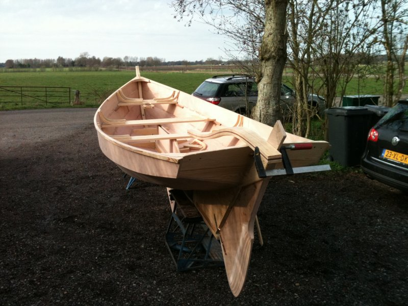 Hanze Yawl after the first boatbuilding course