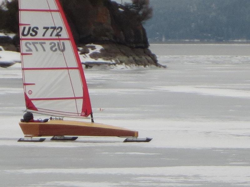 The Mini Skeeter sailing at Somers bay on Flathead Lake Montana