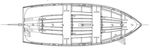 Goeller 12' Dinghy overhead profile