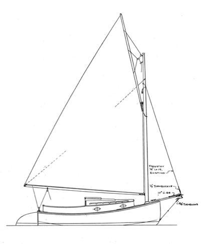 Wittholz 17' Catboat profile