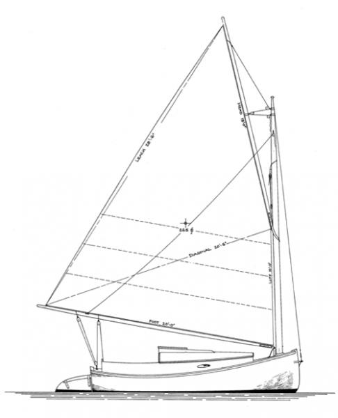 18' Catboat profile