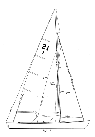 "21' 4"" Hodgdon Class Sloop profile"