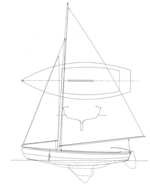 "14'  5""  Biscayne Bay Daysailer profile"