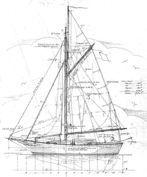27 39 9 cutter capt blackburn woodenboat magazine for William garden sailboat designs