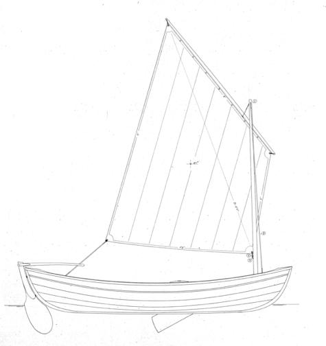 13' Sailing Peapod profile