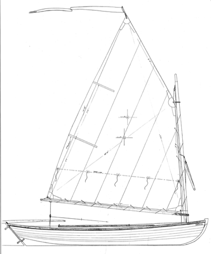 "13' 4"" Melonseed skiff profile"