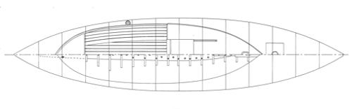 28' Canoe Yawl, Rozinante overhead