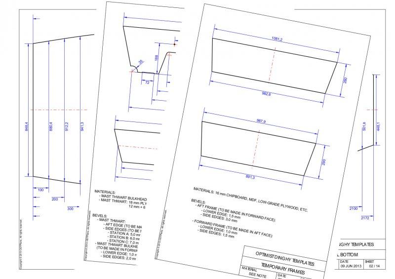 Optimist Dinghy Template Plans | WoodenBoat Magazine
