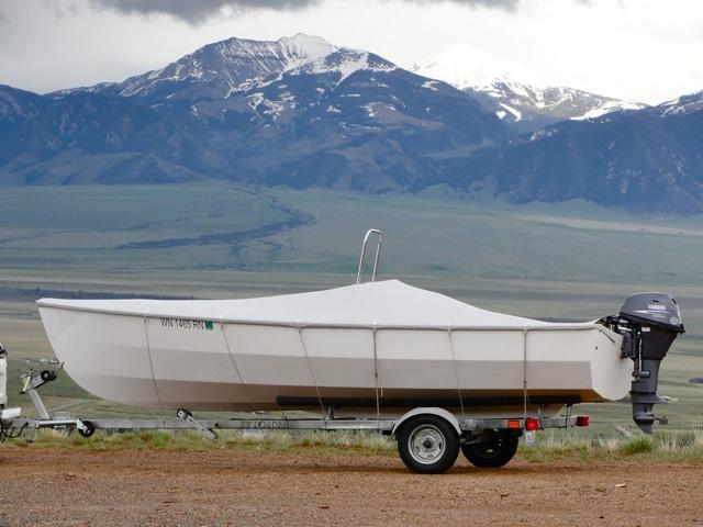 Light weight 18.5ft PT Skiff trailered, easy!