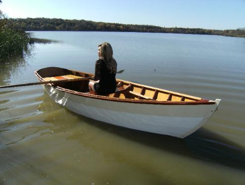 rowboat, built using traditional methods, but with marine plywood ...