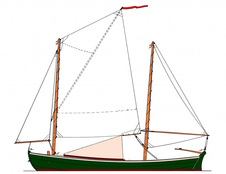 Sea Bright 18 Sail Plan