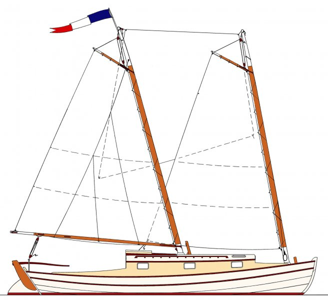Sea Bright 36 Sail Plan