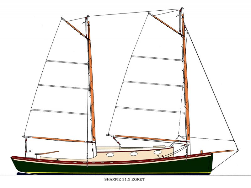 Sharpie 31.5 EGRET | WoodenBoat Magazine