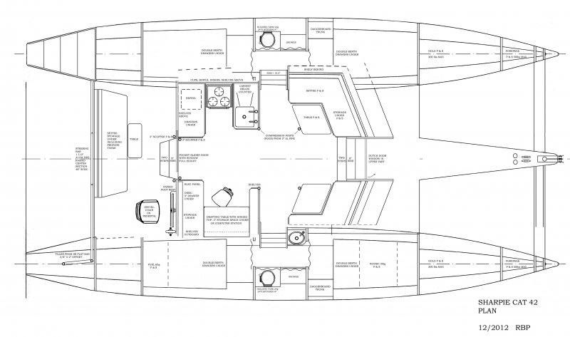 Interior Plan--Sharpie cat 42