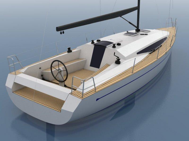 Cruiser/Racer boat illustration 3.