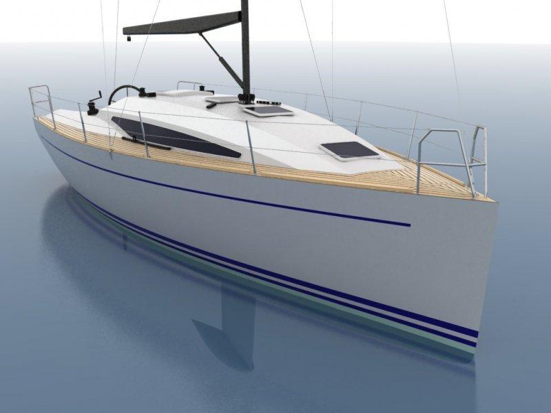 Cruiser/Racer boat illustration 2.