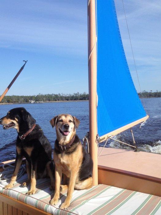 BETTE S riding sail.