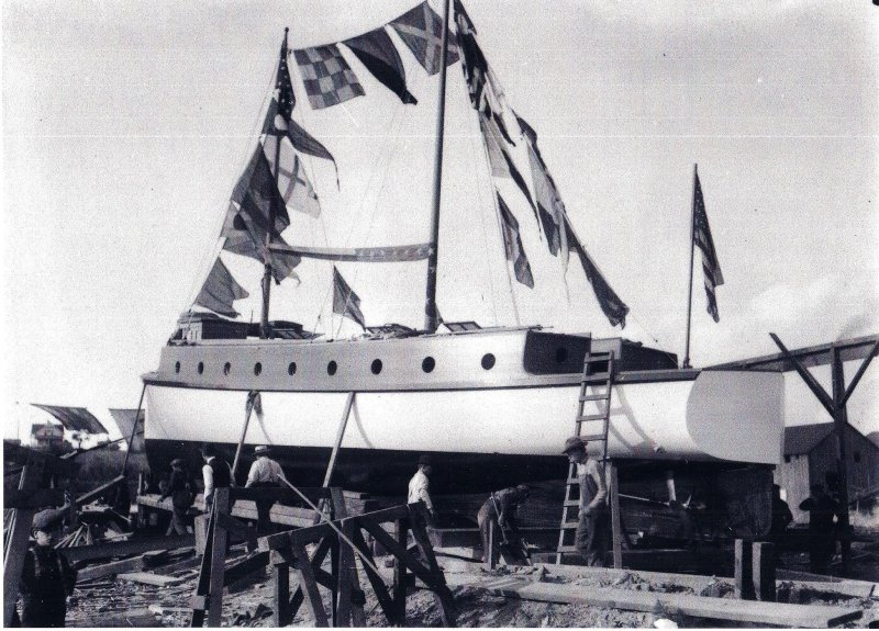 Elizabeth launch 1908