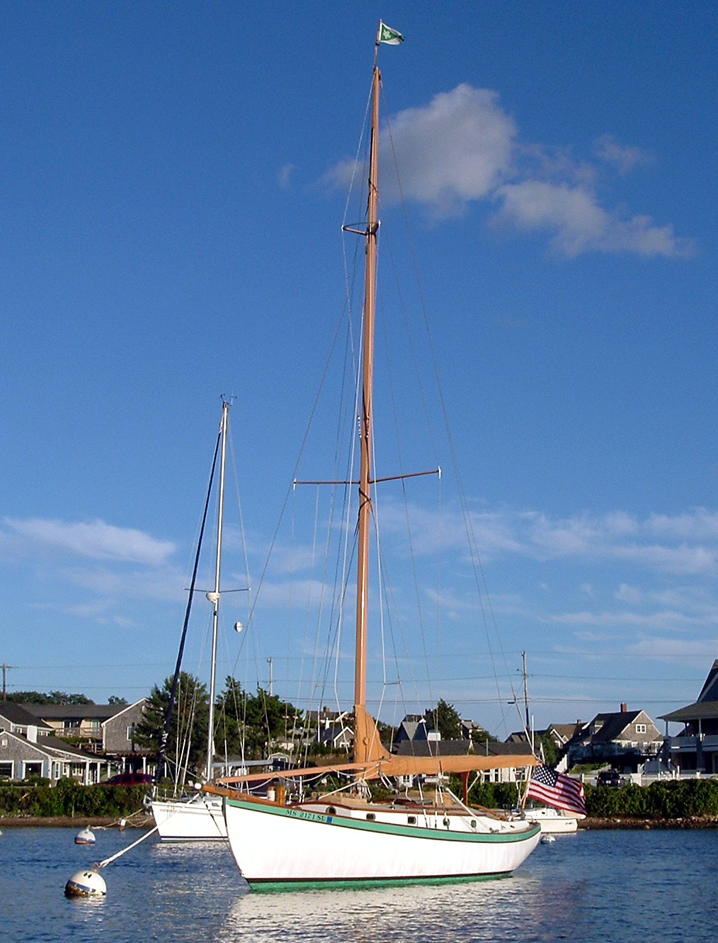 WIND SONG, Concordia 28 keel cutter.
