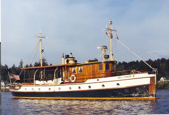ARGONAUT II, power cruiser designed by Edson B. Schock.