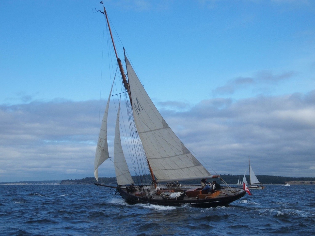 CARLOTTA was designed and built by W.H. Halford in Gloucester, England.