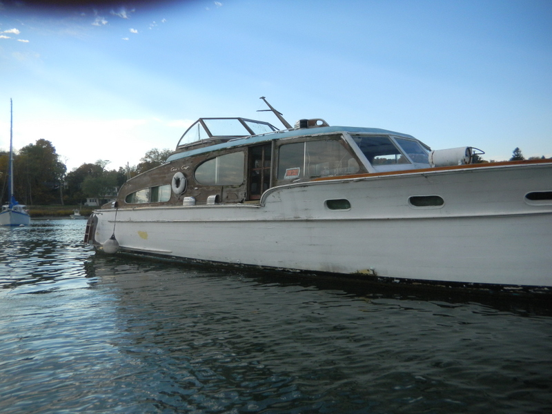 1949 Chris Craft double cabin fly bridge