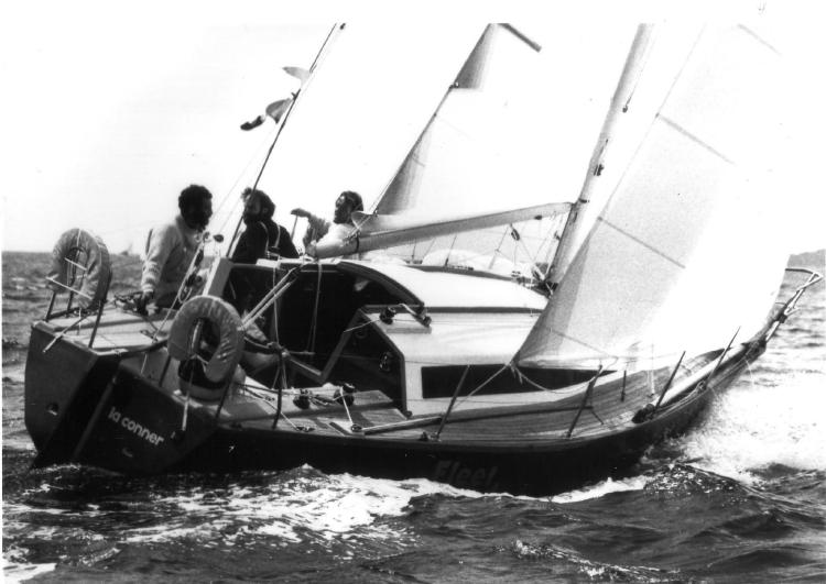 FLEETWOOD in the Swiftsure Clallam Bay race, May 25, 1980