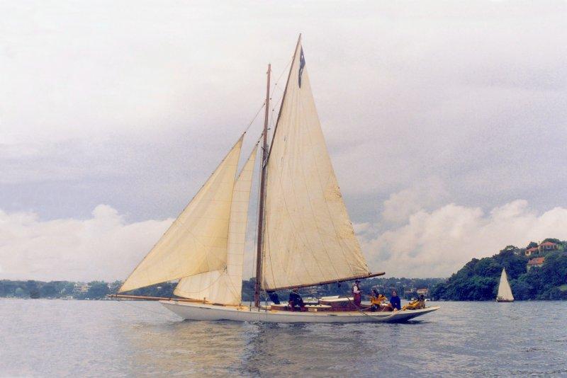 Ida, a Baily Bros Gaff Rigged Yacht