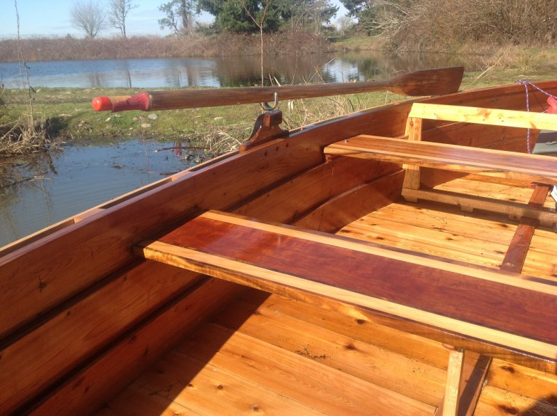 BESS Boat: Seats of Cherry, Cedar and Myrtlewood