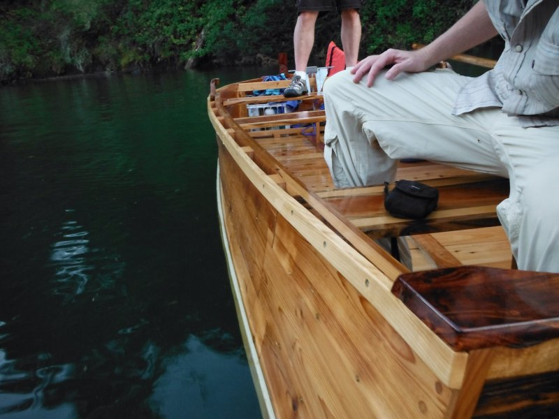 BESS Boat: Walnut transom and Koa knee